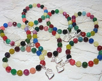 Children's Colorful Count Your Blessings Bracelets - Stocking Stuffer, Party Favors, Jelly Beans