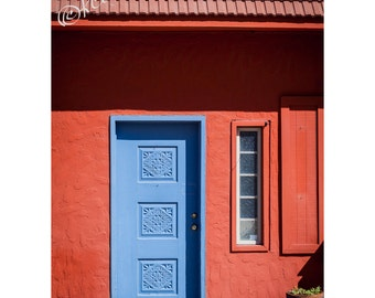 Carrizozo Periwinkle Door Fine Art Photography New Mexico Western Home Decor Bright Colors Southwest Style Doorway West Ranch house chic art