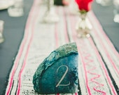 "Agate | Geode Table Numbers for Wedding / Party / Event, 4 - 5"" each"