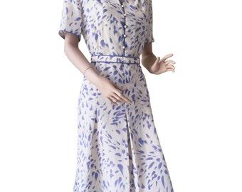 Summer 70s Midi Dress Size M - L | 38 - 42 | US 8 - 12 | UK 10 - 14