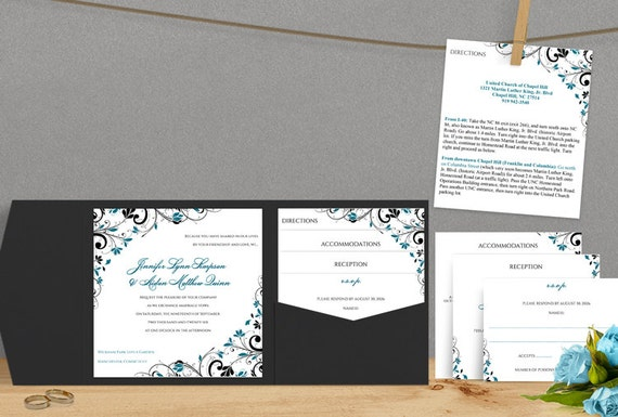 Wedding Invitations With Pockets Folders is best invitation ideas