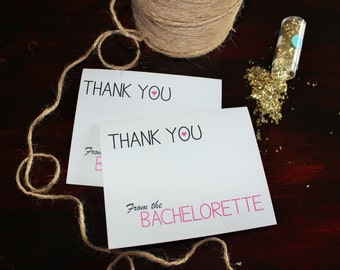 Bachelorette thank you cards, from the bachelorette, thank you cards, bachelorette party, invites, bachelorette, bach party