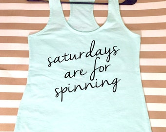 Saturdays Are For Spinning Women's Racerback Tank Top