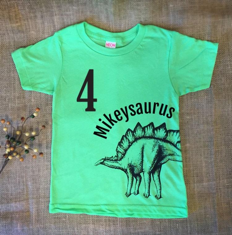 Personalized Kids Dinosaur Tshirt Customized Birthday By