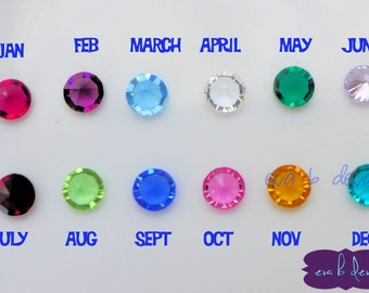 Mix and Match 5mm Crystal Birthstones For Floating Charm Locket