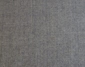 SALE! BTY - Medium Grey Wool Fabric Selvedge Wool Suiting - Pure Wool Fabric