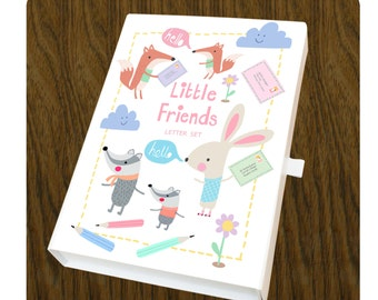 Stationary set, writing set in little friends design.