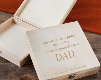 Takes Someone Special to Be a Dad Personalized Keepsake Box - Father's Day Memory Box - Father's Day Gifts - GC1215