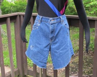 Studded denim shorts   Etsy