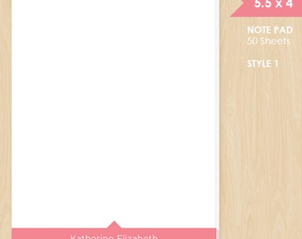 Personalized Note Pad // Colored Name // S114