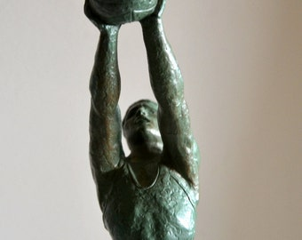 statue1930s vintage sports basketball player Art Deco