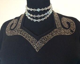 Vintage 1940's Noir Dress - Large