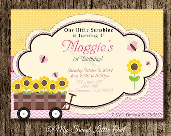 sunflower invitation | etsy, Baby shower invitations