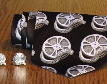 Silver Film Reel Cufflinks