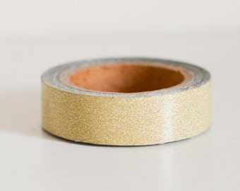 Light Gold Glitter Sticky Tape