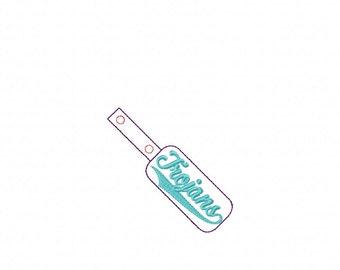 Trojans - In The Hoop - Snap/Rivet Key Fob - DIGITAL Embroidery DESIGN