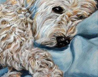 custom dog oil Painting, dog portrait, pet portrait, Dog Painting Portrait Commission, wheaten Terrier, pet memorial, personalized art, 9x12