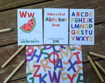 Instant download diy alphabet book baby shower activity instant download diy alphabet book primary colors baby shower activity game baby solutioingenieria Image collections