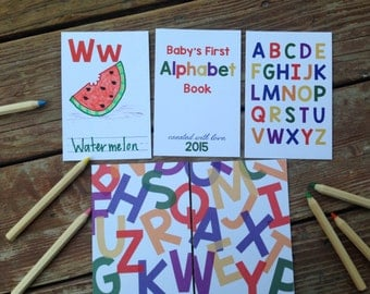instant download diy alphabet book primary colors baby shower activity game baby - Primary Colors Book