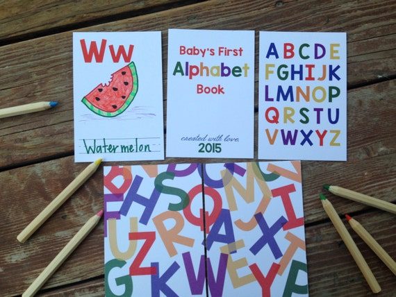 Instant download diy alphabet book primary colors baby instant download diy alphabet book primary colors baby shower activity game baby book do it yourself abc cards book shower neutral solutioingenieria Image collections