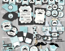 baby shower package mustache baby shower mustache party decoration