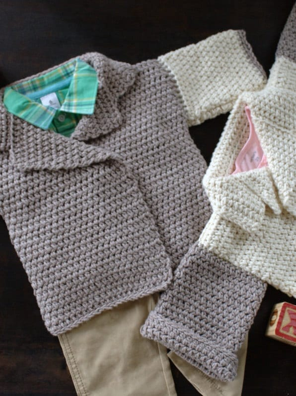Red Heart Crochet Patterns For Baby Sweaters : Crochet Pattern Baby Sweater Pattern Baby Girl Jacket