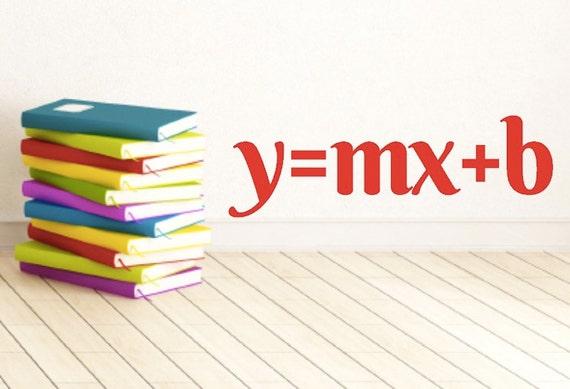 Math Classroom Decal Math Class Y Mxb Math Teacher