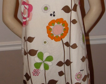 Floral 60's shift dress Size Medium