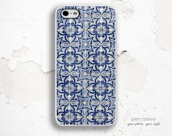 Blue Tile iPhone 6 Case - Geo. iPhone 5 Cover, Blue iPhone 5C Case Tile Mosaic, iPhone 6 Plus Case, iPhone 6 Case Mosaic Tile :0975