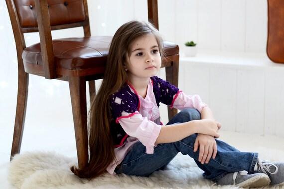 Purple girls coat, Short Cardigan, Jacket, Bolero coat Toddler girl clothes, Toddler Crochet Vest - Toddler Outfit