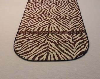 Brown Zebra Print Table Runner.