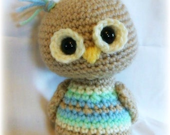 Scrappy Owls;CROCHET PATTERN PDF