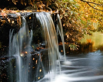Autumn Waterfall: 8x10 nature photography print. Also comes in custom sizes printed on matt or glossy photo paper.