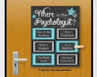 School Psychology Gift, School Psychologist, Office Decor, Door Decoration, Psychology Poster, Psychology Art, Printable Art, Psychologist
