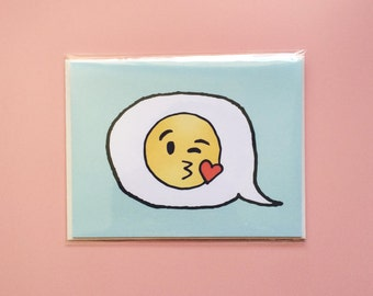 Emoji Cards! - Winking Face Blowing a Kiss