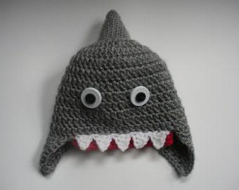 Newborn Shark Hat, Baby Shark Hat, Toddler Shark Hat, Child Shark Hat, Adult Shark Hat, Photo Shoot Prop, Baby Shower gift