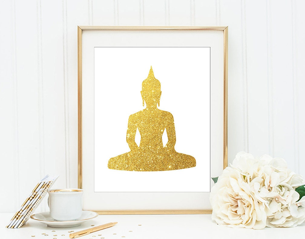 Buddha wall art print modern home decor giclee by for Buddha decorations for the home uk