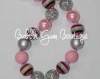"Gymnastics Girl""  Bubble Gum Necklace"