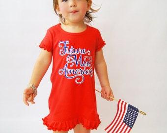 Future Miss America Girls Glitter Dress