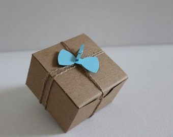 Baby Shower favor boxes - Custom color - Bow tie - Baby shower  #2055