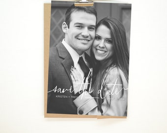 Handwritten Photo Save-The-Date Wedding Invitation - Printable Files