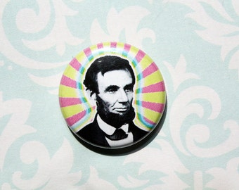 Abraham Lincoln- One Inch Pinback Button