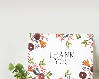 Thank You: Floral Greeting Card