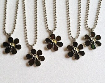 VTG Yin Yang Flower Necklace