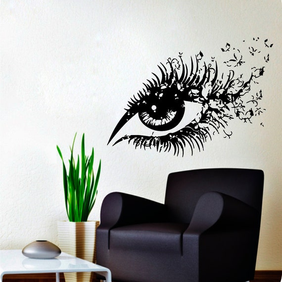 Wall decals hairdressing hair beauty salon decal vinyl sticker for Stickers salon design