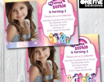 My Little Pony Birthday Party Invitation - Printable (5x7)