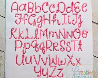 Say Something Embroidery Font 6 Sizes Alphabet Digital Machine Embroidery Design, embroidery font, monogram font, embroidery alphabet