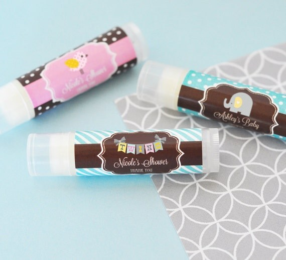 personalized baby shower lip balm tubes, delicious baby shower, Baby shower invitation