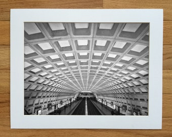 Washington DC Metro Subway photograph. Urban fine art print. Multiple sizes available.