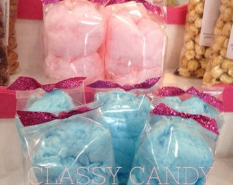 Small Cotton Candy Favor Bags- Set of 12
